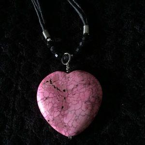 Heart-Shaped Necklace Pendant on Unique chain